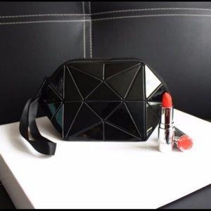 Black Geometric Makeup Pouch